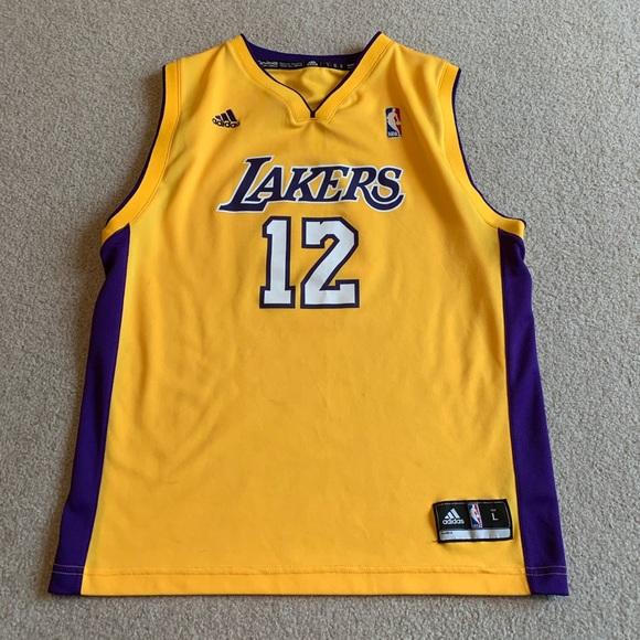 Adidas Los Angeles Lakers #12 Dwight Howard jersey